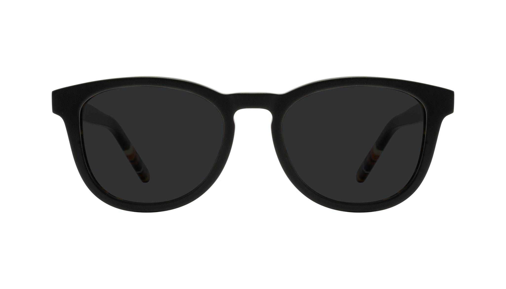 Affordable Fashion Glasses Round Sunglasses Men Goal Black Tort Front