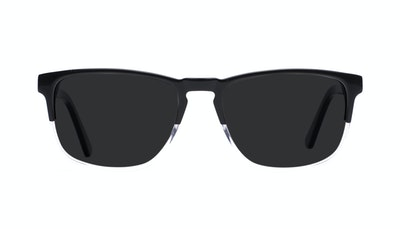 Affordable Fashion Glasses Rectangle Sunglasses Men Loft Black Diamond Front