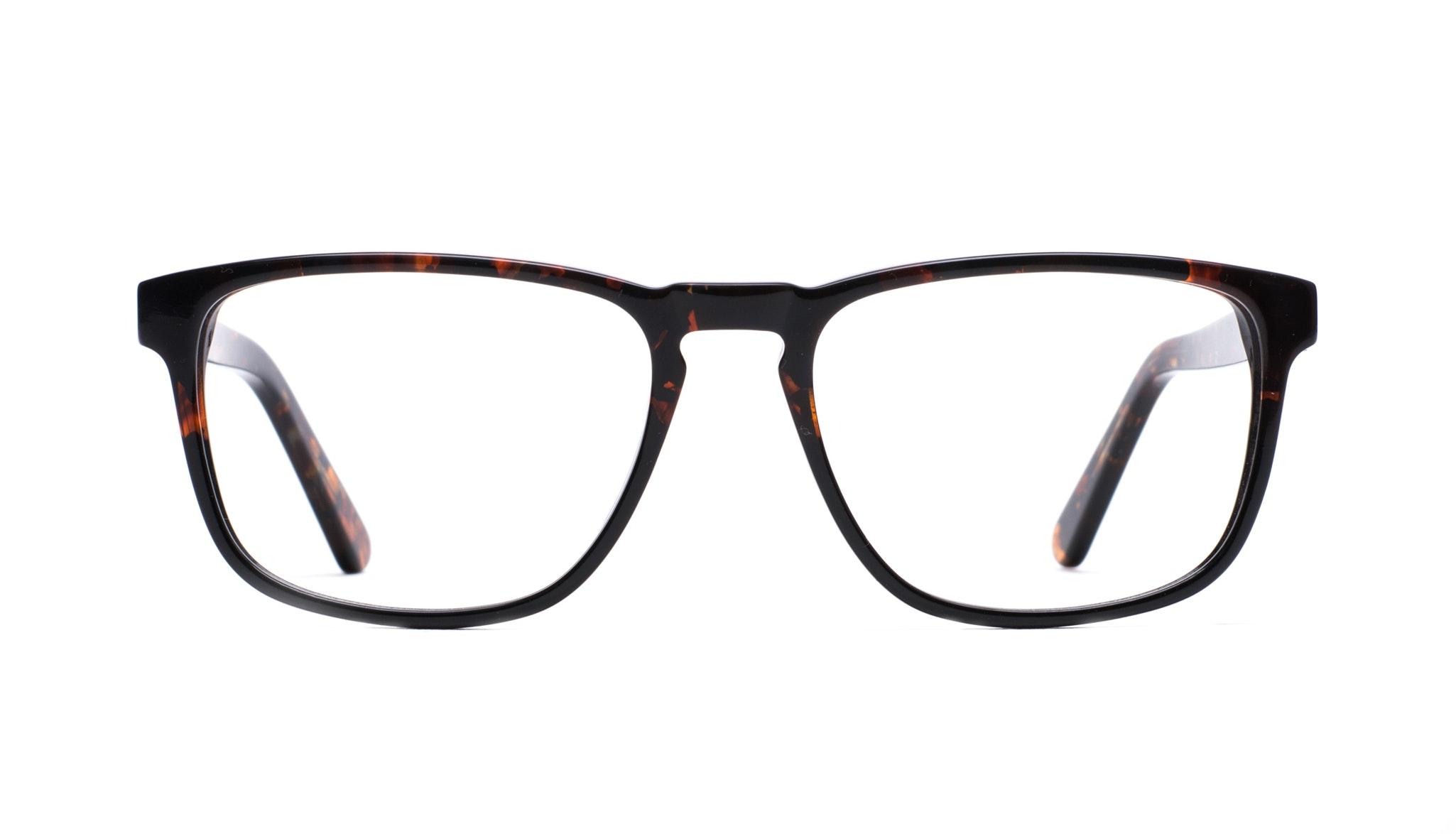 Affordable Fashion Glasses Rectangle Eyeglasses Men Loft Mahogany Black Front