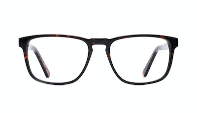 Affordable Fashion Glasses Rectangle Eyeglasses Men Loft Mahogany Black Front