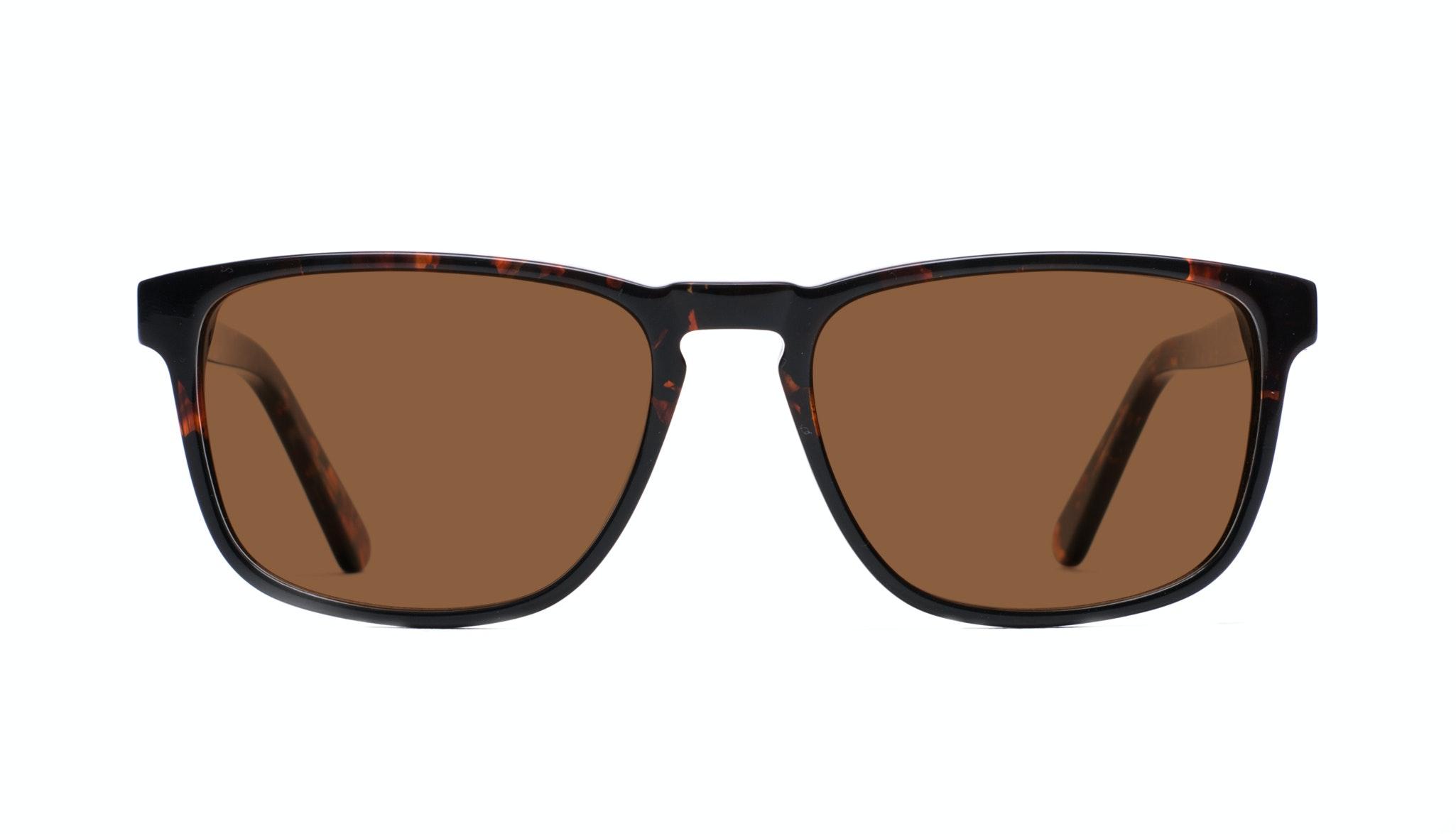 Affordable Fashion Glasses Rectangle Sunglasses Men Loft Mahogany Black Front