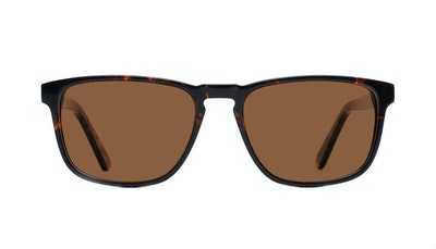 Affordable Fashion Glasses Rectangle Sunglasses Men Loft Mahogany Black Front