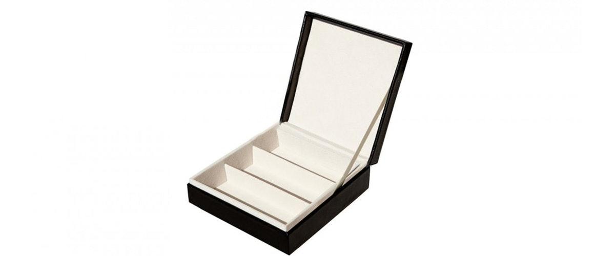 Affordable Fashion Glasses Accessory Men Women Mini Collector's Box Black Front