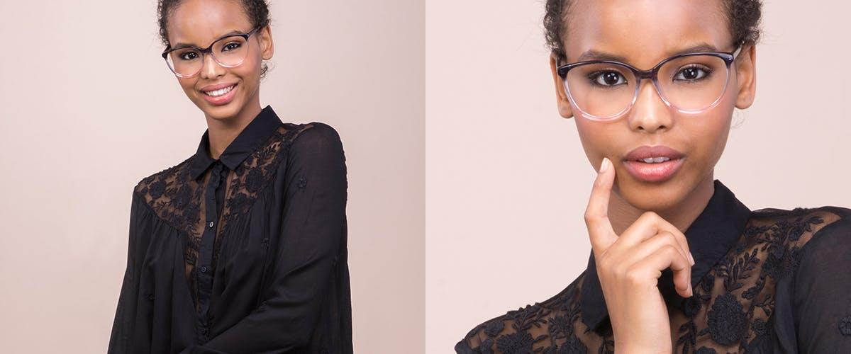 Affordable Fashion Glasses Cat Eye Round Eyeglasses Women Imagine Pink Dust
