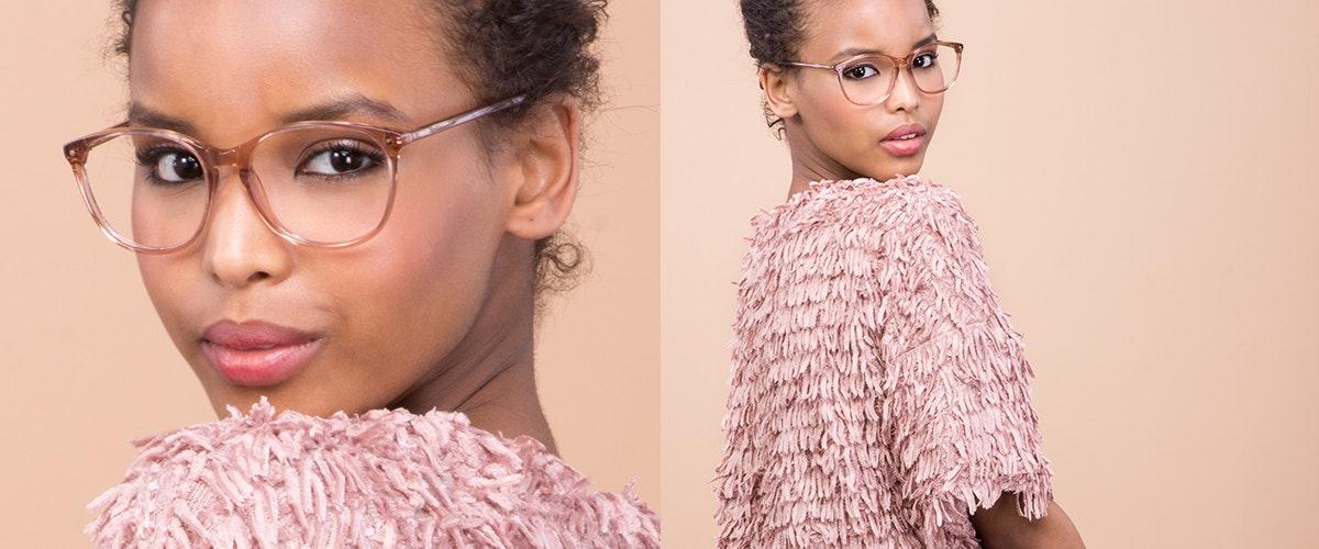 Affordable Fashion Glasses Rectangle Square Round Sunglasses Women Nadine Rose