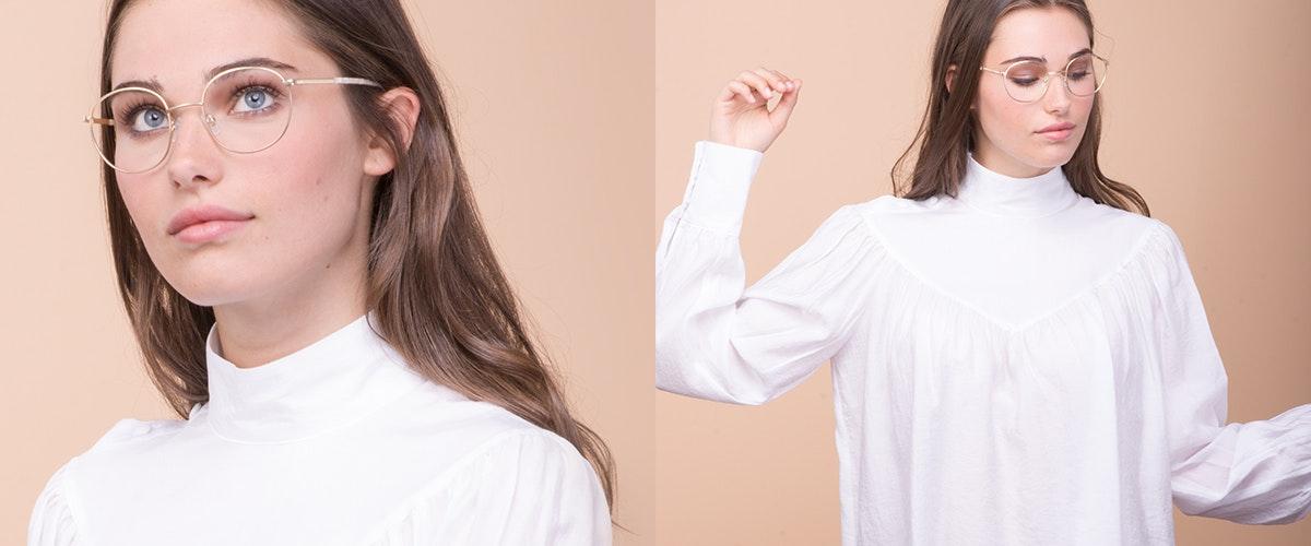 Affordable Fashion Glasses Round Eyeglasses Women Joy Gold Marble