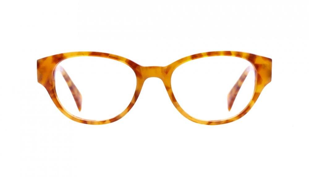 Affordable Fashion Glasses Round Eyeglasses Women Maggie Havana Front