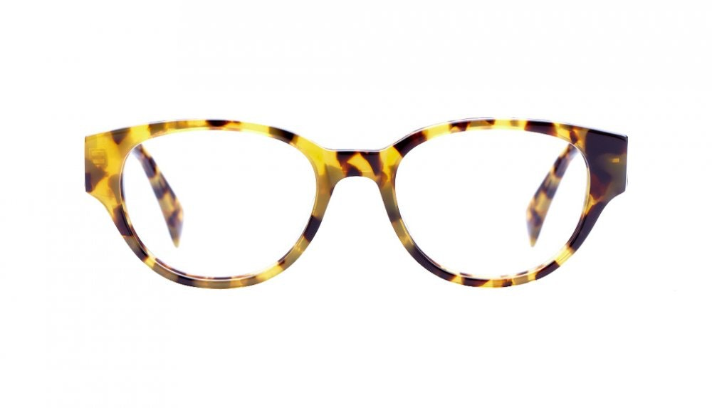 Affordable Fashion Glasses Round Eyeglasses Women Maggie Baltic Amber Front