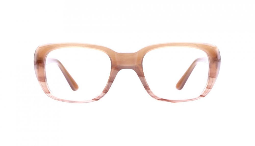 Affordable Fashion Glasses Square Eyeglasses Women Ruby Desert Rose Front