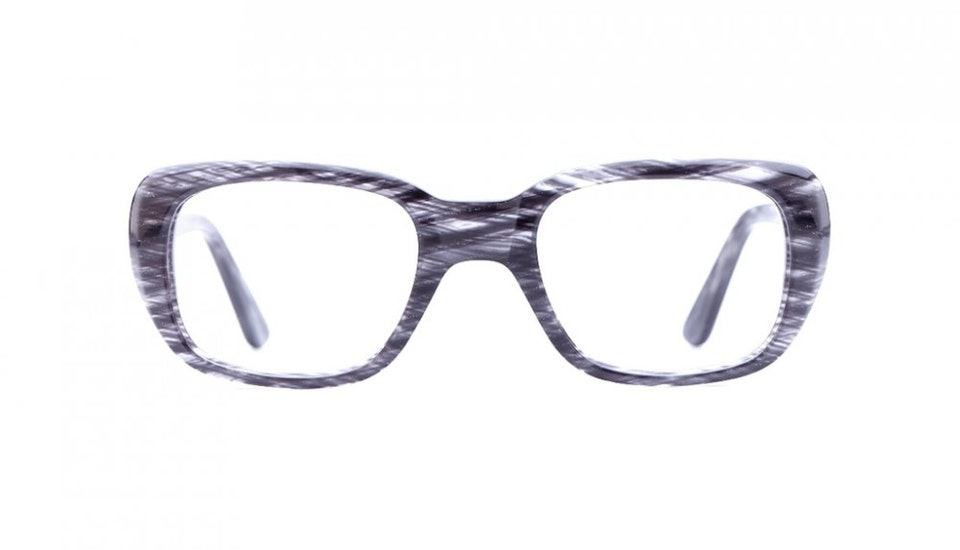 Affordable Fashion Glasses Square Eyeglasses Women Ruby Charcoal Tweed Front