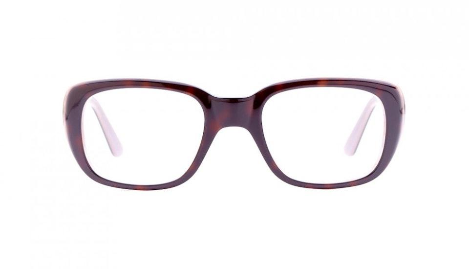 Affordable Fashion Glasses Square Eyeglasses Women Ruby Vanilla Latte Front