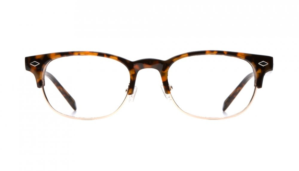 Affordable Fashion Glasses Rectangle Eyeglasses Men Whisky Tortoise Front