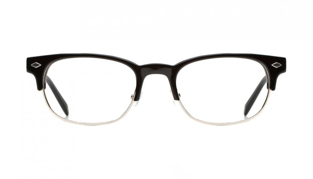 Affordable Fashion Glasses Rectangle Eyeglasses Men Whisky Black Front