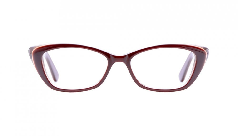 Affordable Fashion Glasses Cat Eye Eyeglasses Women Betty Vivid Maroon Front