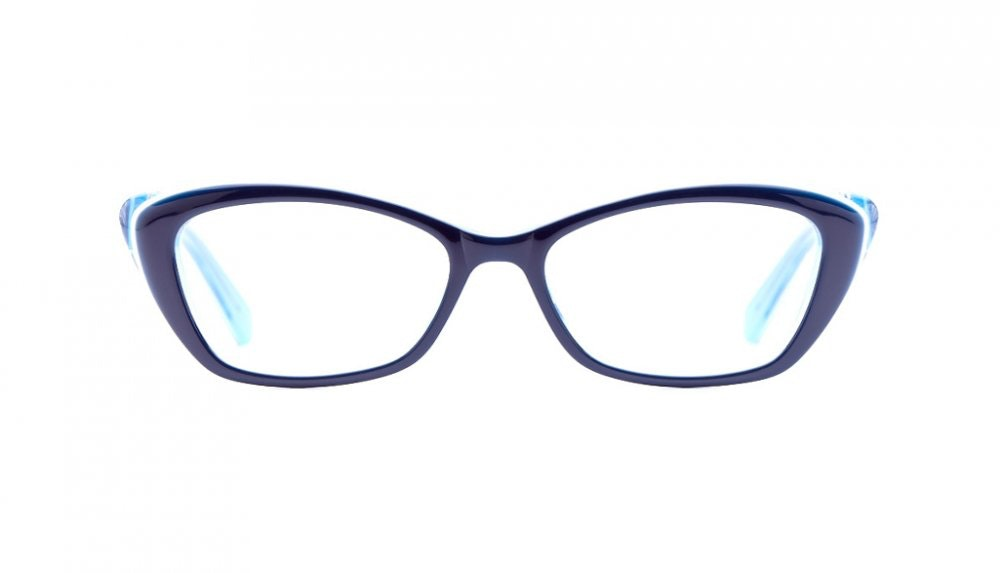 Affordable Fashion Glasses Cat Eye Eyeglasses Women Betty Indigo Blues Front