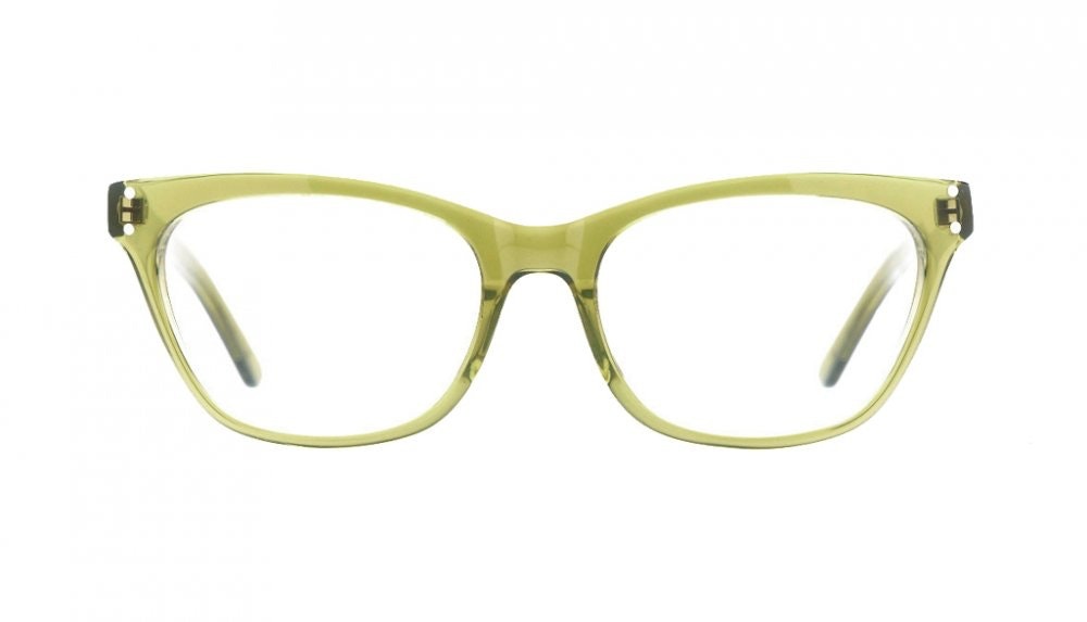 Affordable Fashion Glasses Cat Eye Eyeglasses Women Martha Olive Front