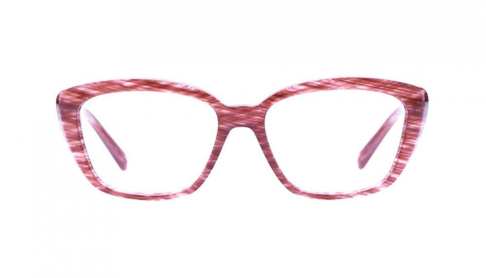 Affordable Fashion Glasses Cat Eye Eyeglasses Women Eva Amaranth Tweed Front