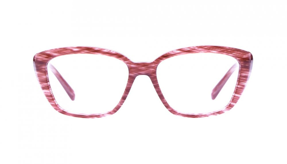 Affordable Fashion Glasses Cat Eye Eyeglasses Women Eva Amaranth Tweed Front