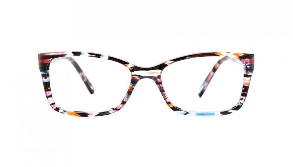 Affordable Fashion Glasses Rectangle Eyeglasses Women Dancer Party Blue Front