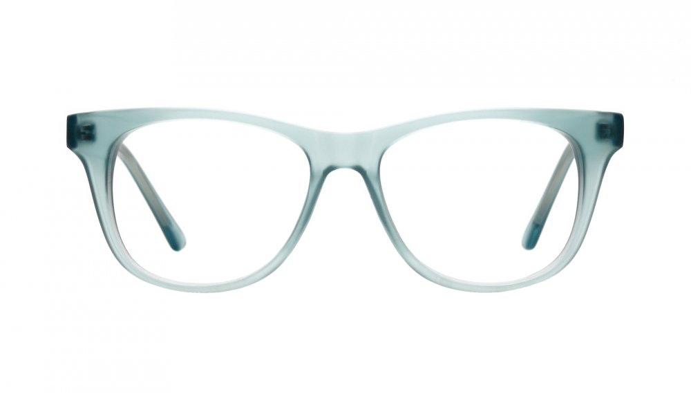 Affordable Fashion Glasses Square Eyeglasses Men Women Night Owl Frosted Aqua Front