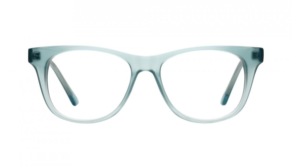 Affordable Fashion Glasses Square Eyeglasses Women Night Owl Frosted Aqua Front