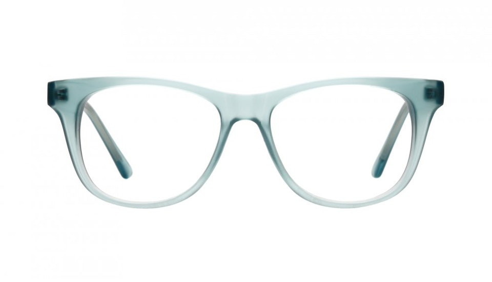 Affordable Fashion Glasses Square Eyeglasses Men Women Night Owl Frosted Aqua Front
