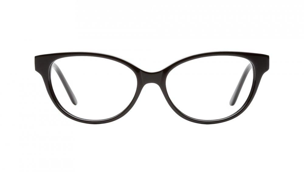 Affordable Fashion Glasses Cat Eye Eyeglasses Women Powder Puff Black Front