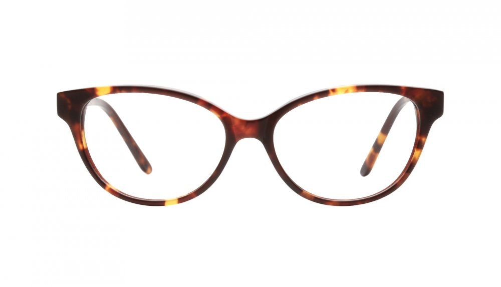 Affordable Fashion Glasses Cat Eye Eyeglasses Women Powder Puff Frosted Sepia Front