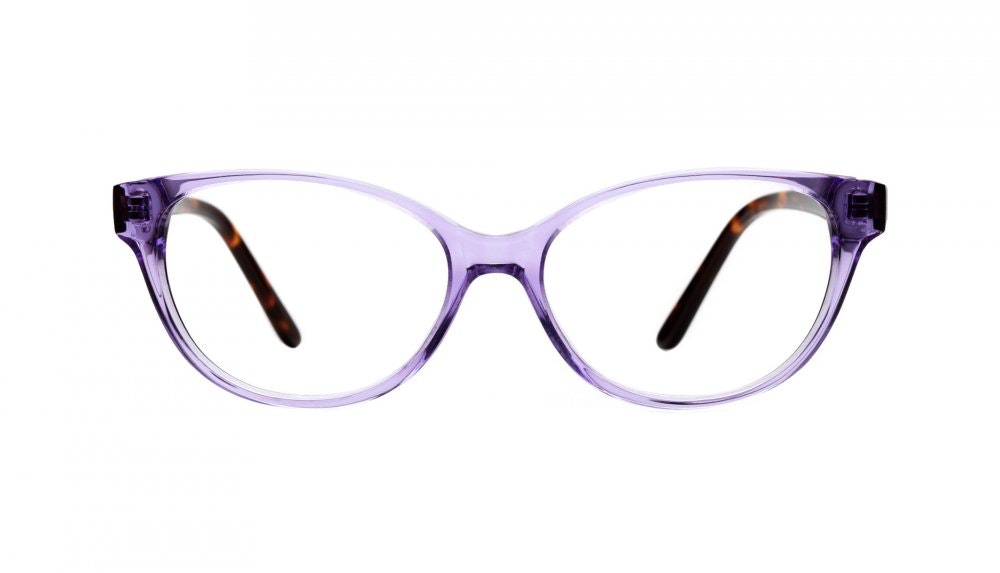 Affordable Fashion Glasses Cat Eye Eyeglasses Women Powder Puff Amethyst Tortoise Front