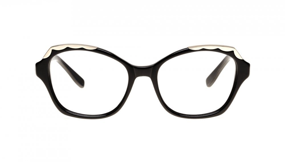 Affordable Fashion Glasses Cat Eye Eyeglasses Women Bloom Ebony Front