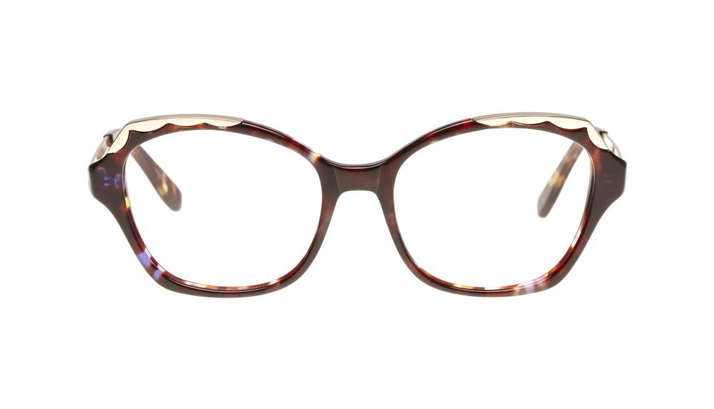 Affordable Fashion Glasses Cat Eye Eyeglasses Women Bloom Lilac Tortoise Front