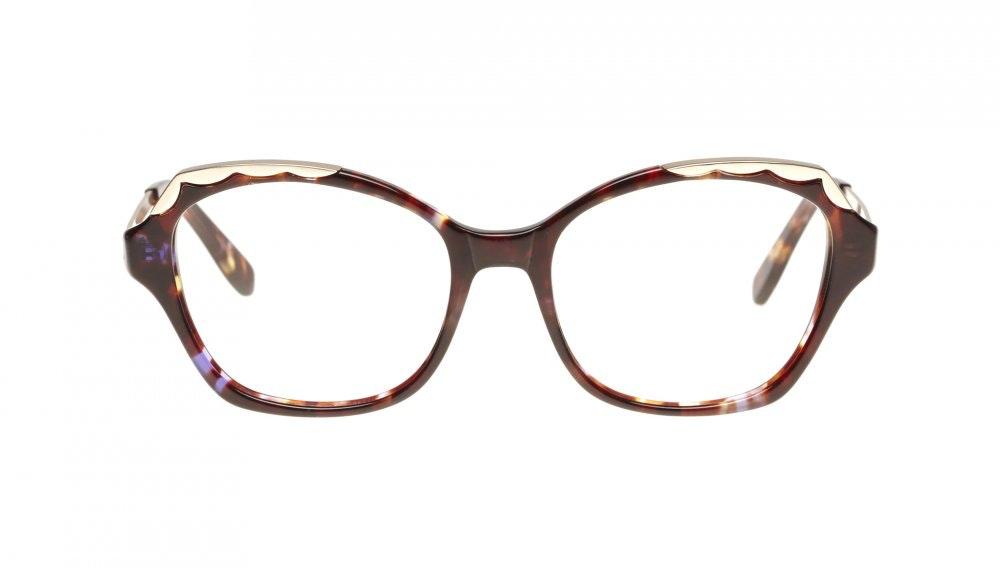 Lunettes tendance Oeil de chat Lunettes de vue Femmes Bloom Lilac Tortoise Face