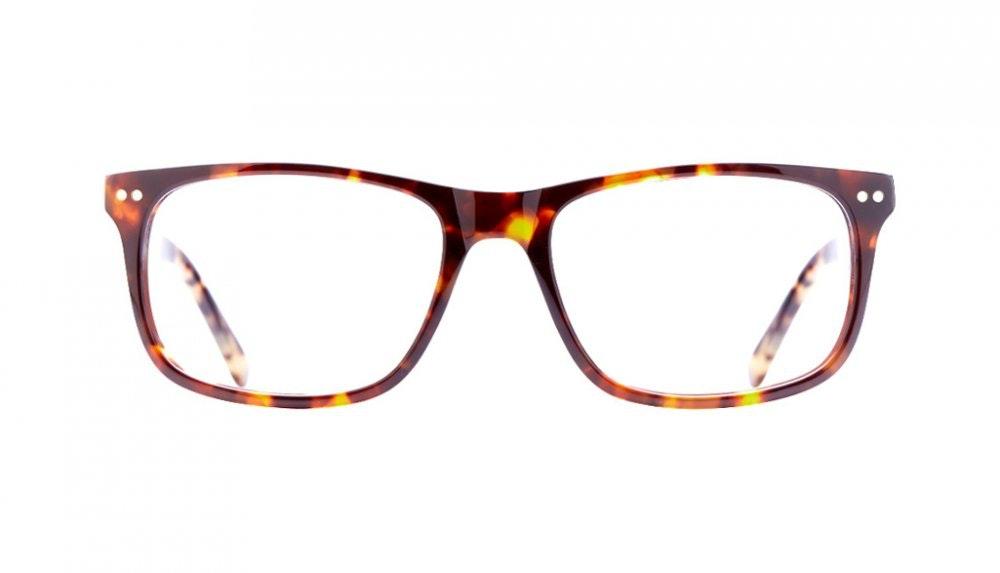 Affordable Fashion Glasses Rectangle Eyeglasses Men Women Dylan Sepia Kiss Front
