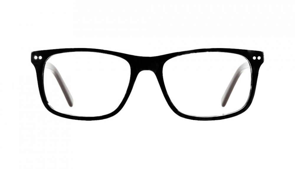 Affordable Fashion Glasses Rectangle Eyeglasses Men Women Dylan Black Front
