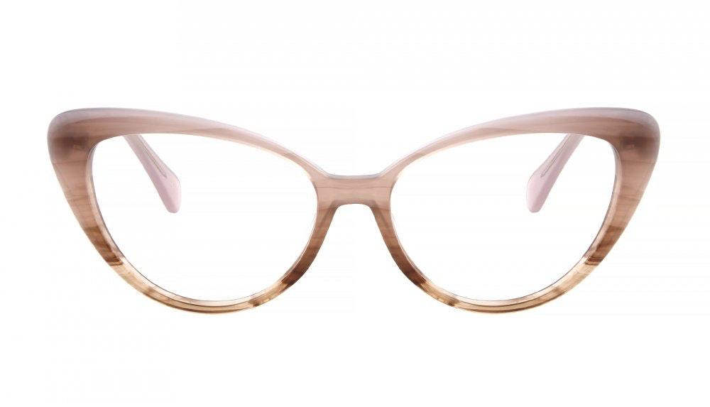 Affordable Fashion Glasses Cat Eye Eyeglasses Women Bombshell Purple Dawn Front