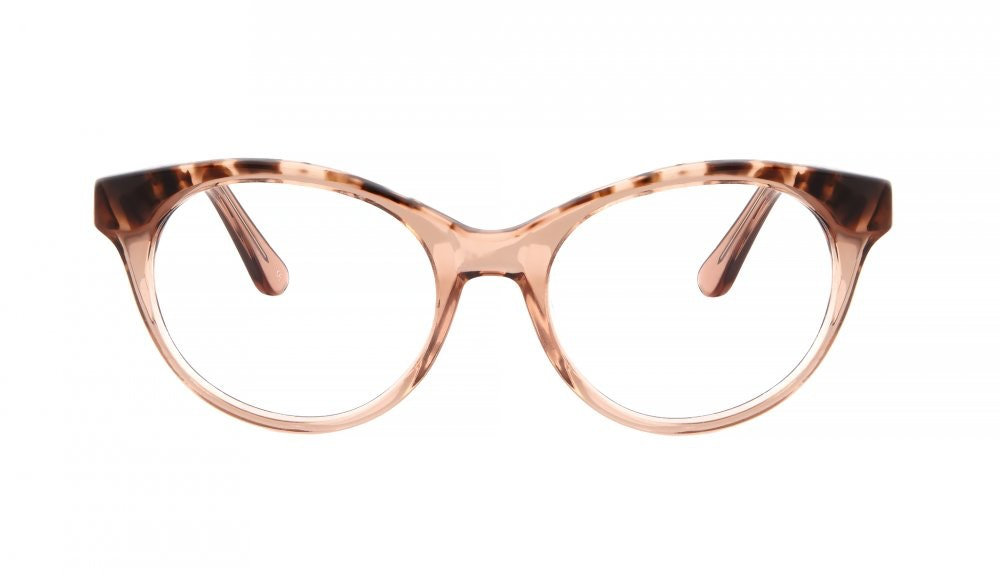 Lunettes tendance Oeil de chat Ronde Optiques Femmes Beatrix Rose Tortoise Face