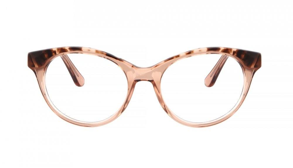 Lunettes tendance Oeil de chat Ronde Lunettes de vue Femmes Beatrix Rose Tortoise Face
