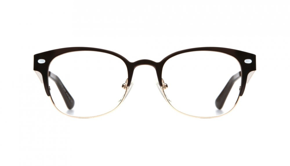 Affordable Fashion Glasses Round Eyeglasses Women Peacock Dark Chocolate Front