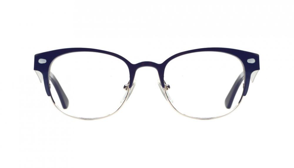 Affordable Fashion Glasses Round Eyeglasses Women Peacock Midnight Blue Front
