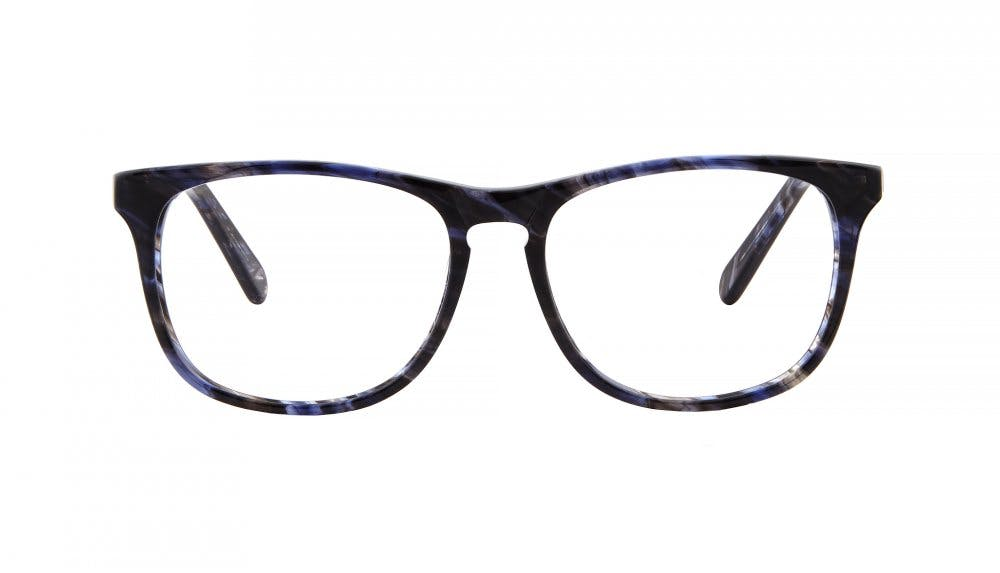 Affordable Fashion Glasses Square Eyeglasses Men Fairmount Blue smoke Front