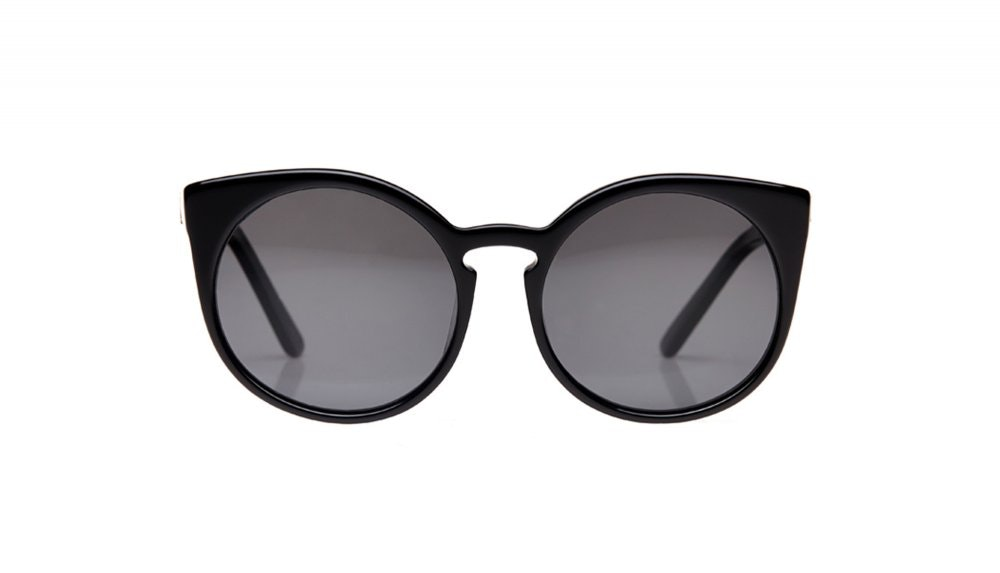 Affordable Fashion Glasses Round Sunglasses Women Birdie Crow Front