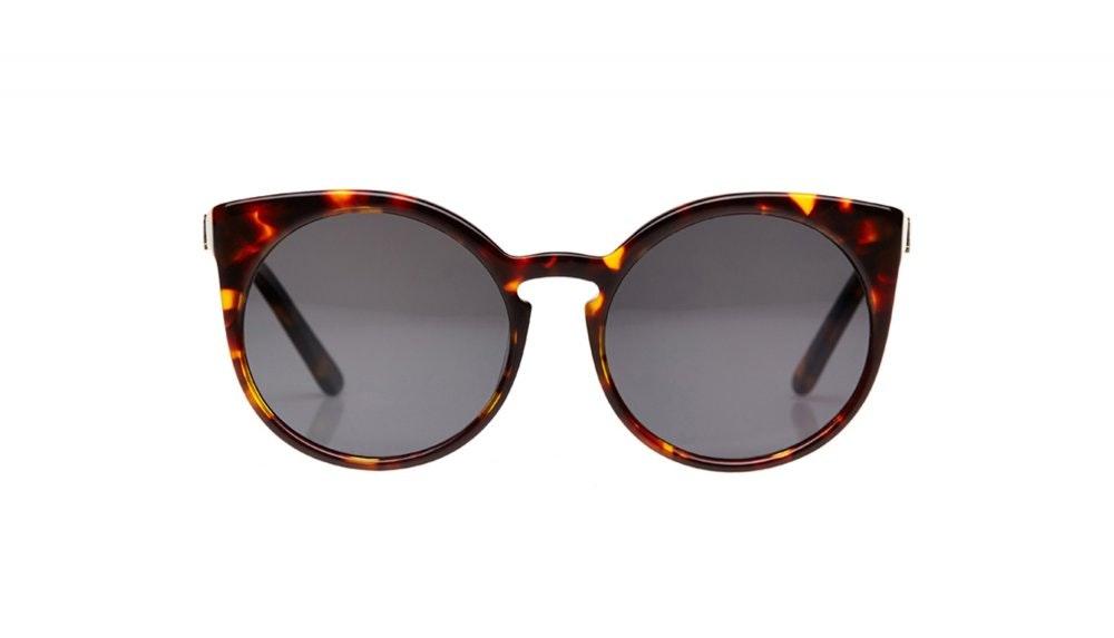 Affordable Fashion Glasses Round Sunglasses Women Birdie Tortoise Front