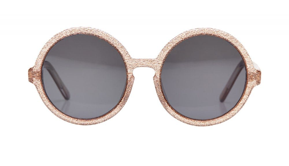 Affordable Fashion Glasses Round Sunglasses Women Apfel Cosmic Copper Front