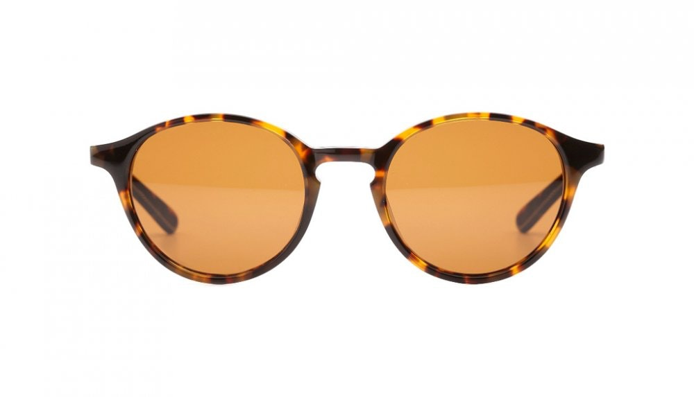 Affordable Fashion Glasses Round Sunglasses Women J'adore Chocolate Tortoise Front