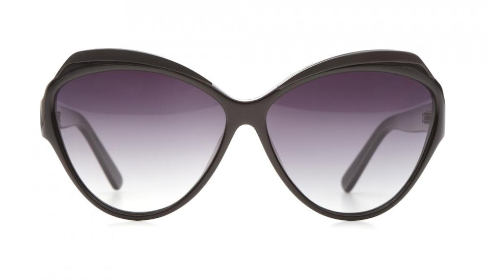 Affordable Fashion Glasses Cat Eye Sunglasses Women Rococo Licorice Front