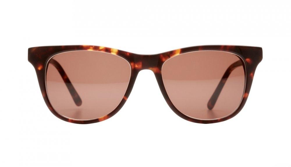 Affordable Fashion Glasses Square Sunglasses Men Women Night Owl Sepia Kiss Front