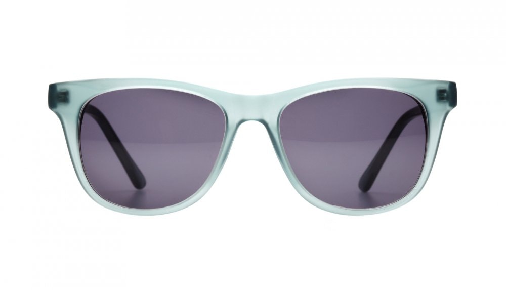 Affordable Fashion Glasses Square Sunglasses Women Night Owl Frosted Aqua Front
