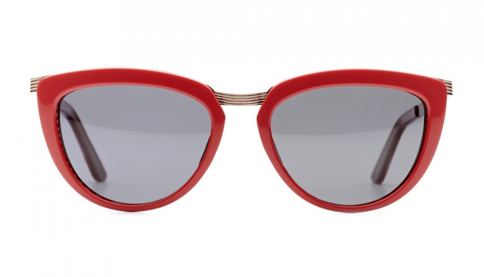 Affordable Fashion Glasses Cat Eye Sunglasses Women Cannes Coral Candycane Front