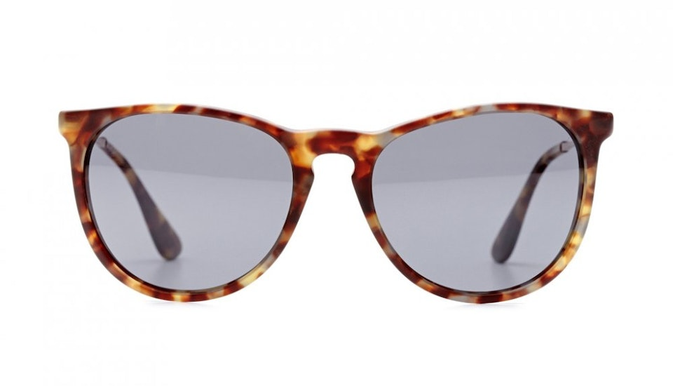 Affordable Fashion Glasses Round Sunglasses Women Montauk Frosted Tortoise Front