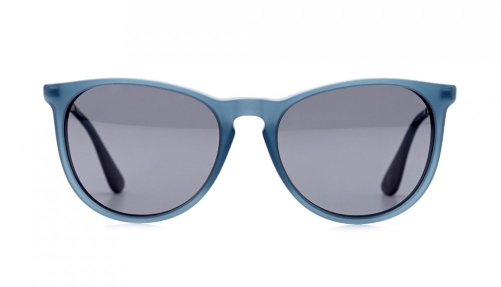 Affordable Fashion Glasses Round Sunglasses Women Montauk Frosted Sky Front